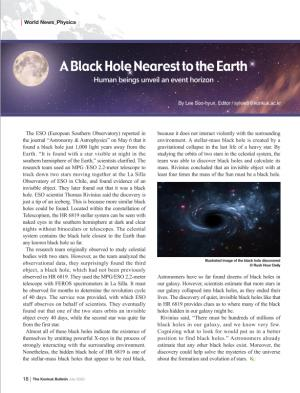 A Black Hole Nearest to the Earth